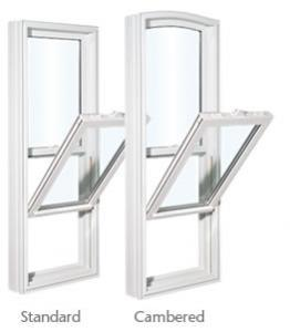 Single Hung Windows available in either Cambered or Standard Shape